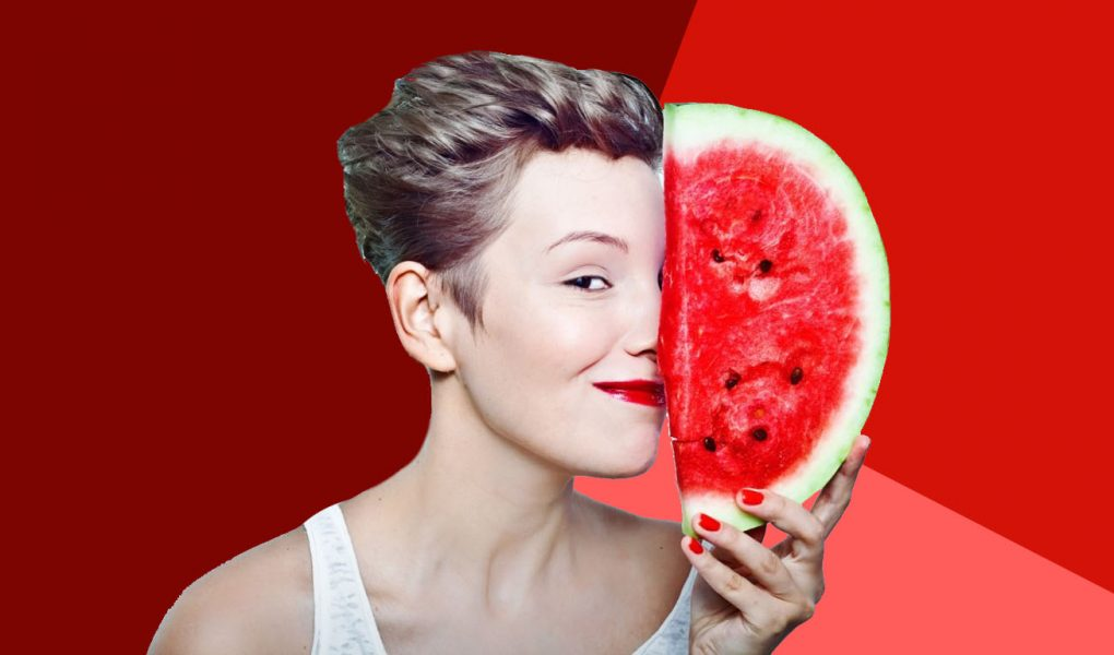 Homemade watermelon face pack for glowing skin